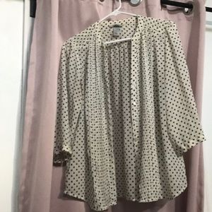 H and m ruffle blouse